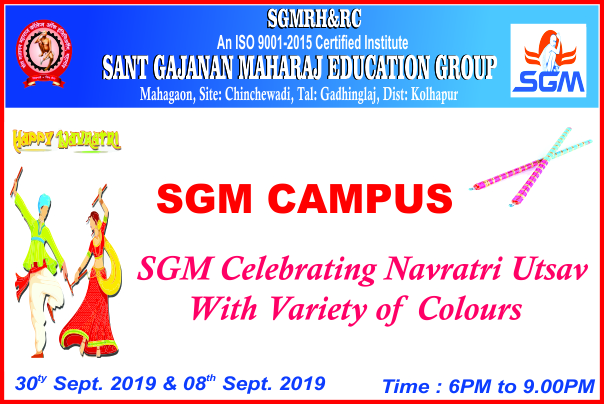 SGM Campus on Celebrating Navratri Utsav with Vari