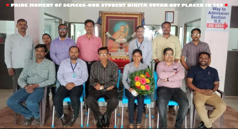 PRIDE MOMENT OF SGMCOE- OUR STUDENT NIKITA SUTAR G